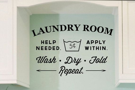 Laundry Room Vinyl Alluring Laundry Room Vinyl Wall Decal Wall Quoteopenheartcreations Design Inspiration