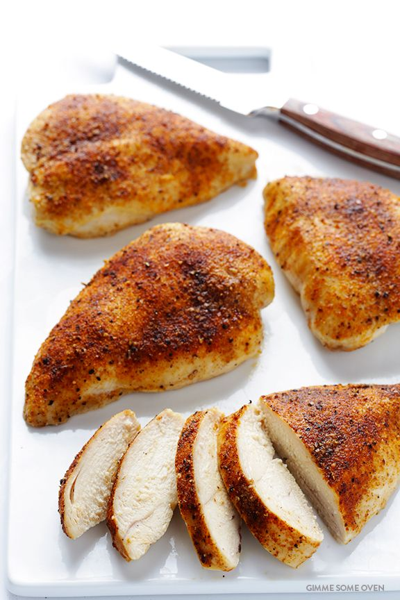 Learn how to make the PERFECT baked chicken breasts -- delicious, juicy, tender, and fool-proof! | gimmesomeoven.com