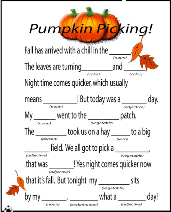More fall printables