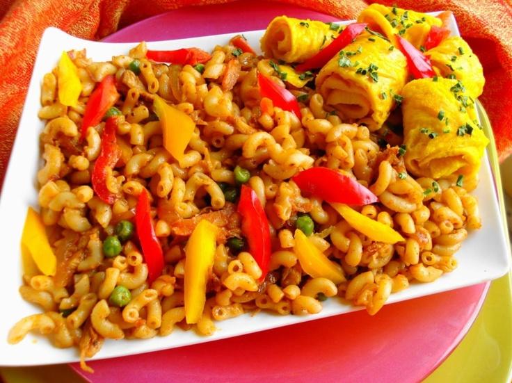 macaroni surinaams recept