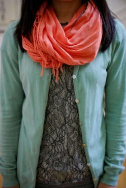 Neon Coral + Mint