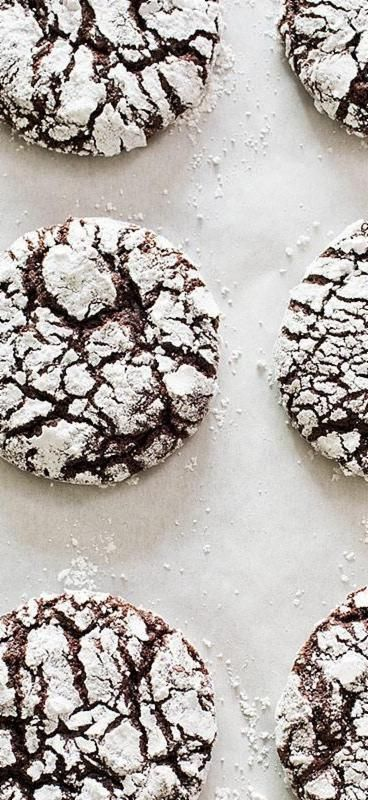 Chocolate Crinkle Cookies. By rolling our crinkle cookies in granulated sugar, we were able to draw out moisture from their surface which promoted the formation of more cracks.