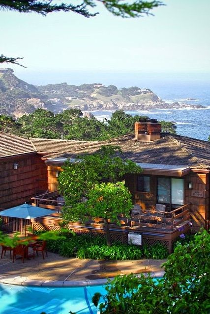 A beautiful shot of Hyatt Carmel Highlands, overlooking the Big Sur coast with epic views of the Pacific Ocean. Photo courtesy of Charles Choi. For more info about this hotel: http://hya.tt/1yYWdpo