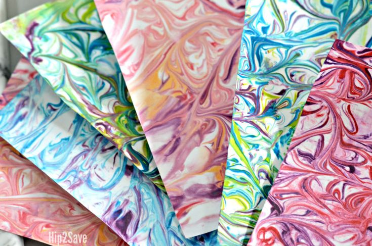 Here s how to use shaving cream and food coloring to make DIY Marbled Paper  for a 85e9c511cb2