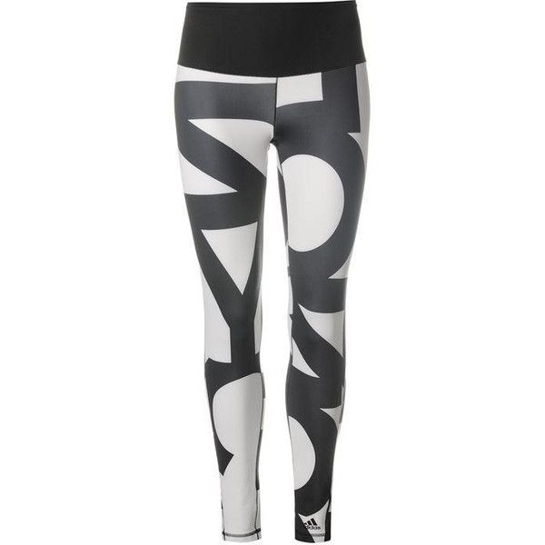 adidas High Rise Long Tights Womens ❤ liked on Polyvore featuring activewear, activewear pants, adidas, adidas sportswear and adidas activewear