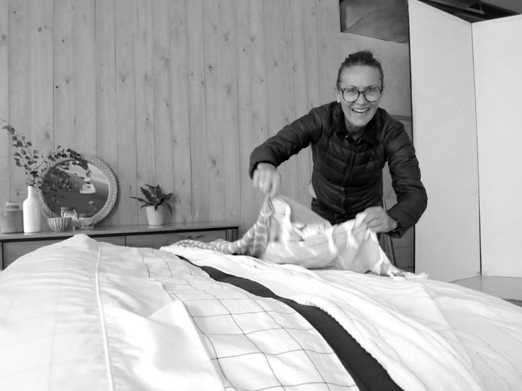 Debra applying the finishing touches to a gorgeous new queen size #bed.