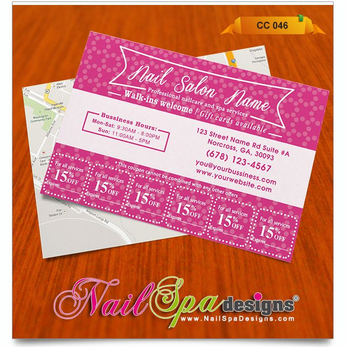 The 50 best Nail Spa Coupon Card Design images on Pinterest | Card ...