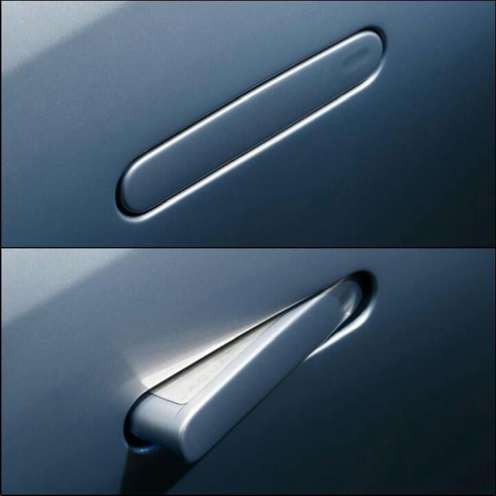 Hidden door handles on a Jaguar...beautiful.
