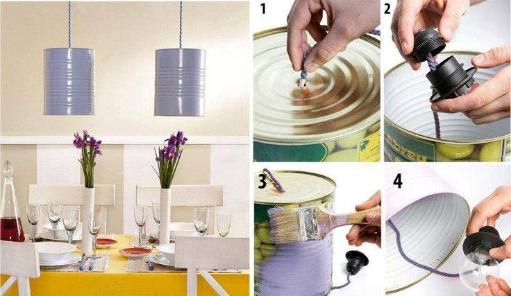 beschilder blikken dozen in de gewenste kleur voor een lampenkap