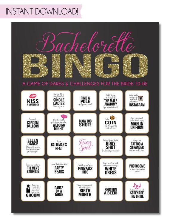 Bachelorette Party spel INSTANT DOWNLOAD van SweetBeeShoppe op Etsy