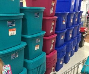 Holy cow... storage totes on sale for $2 at Walmart via YesWeCoupon.com 12/29/14