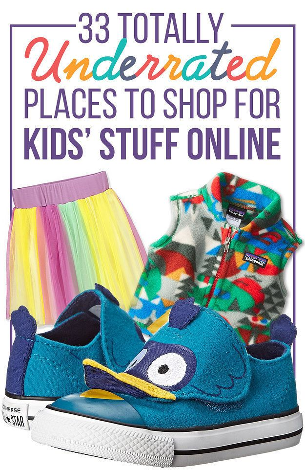 33 Totally Underrated Places To Shop For Kids' Stuff Online (pinned for the toys, not the clothes).