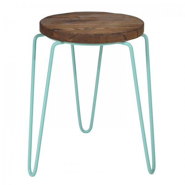 Tripod Iron Stool Mint Green (90 CAD) ❤ liked on Polyvore featuring home, furniture, stools, low stools, colored stools, painted furniture, colored furniture, 3 leg stool and iron furniture