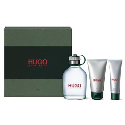 Hugo Boss Hugo For Men Gift Set Includes Hugo for Men EDT 125ml, Hugo Aftershave Balm 75ml and Hugo for Men Shower Gel 50ml Hugo aftershave combines zesty aromatic notes of lemon and verbena with lighter and refreshing marine tones, http://www.MightGet.com/february-2017-2/hugo-boss-hugo-for-men-gift-set.asp