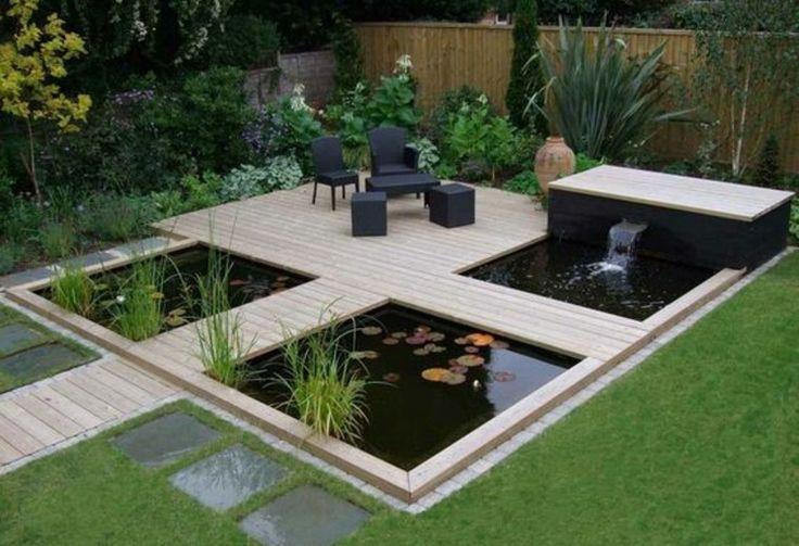 estanques jardin opciones aire libre pequeno dos estanques ideas