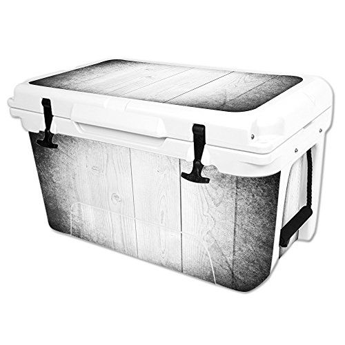 MightySkins Protective Vinyl Skin Decal Wrap for RTIC 45 qt Cooler cover sticker White Wood ** You can find more details by visiting the image link.(This is an Amazon affiliate link and I receive a commission for the sales)