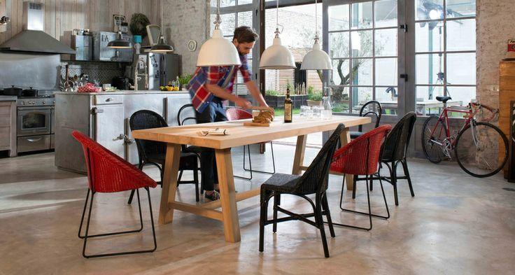 Vincent Sheppard | Life Stories of Lloyd Loom | Joe, Thomas & Jacob dining chairs & Herbert table