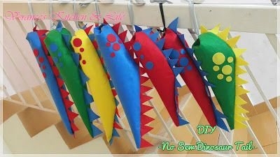 Verance's Kitchen & Life: DIY No Sew Dino Tail