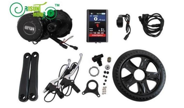 426.00$  Buy now - http://alic90.worldwells.pw/go.php?t=32763081600 - 36V 250W 8Fun Bafang Ebike bicicleta Kits mediados de co BBS01 Mid Crank Drive Motor Kit colorida pantalla LCD 850C