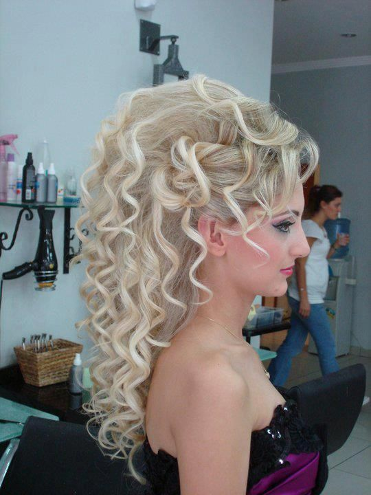 the semi-mohawk-- curl it, pin it up, and let it cascade
