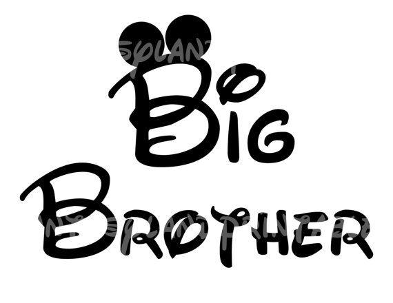 Big Brother Mickey Mouse DIY Printable by FantasylandPrintable