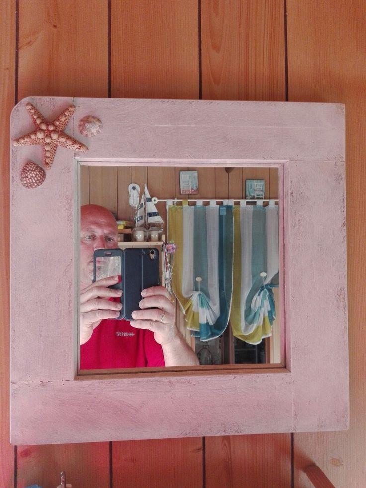 Oltre 25 fantastiche idee su specchio con cornice in legno - Specchio con conchiglie ...