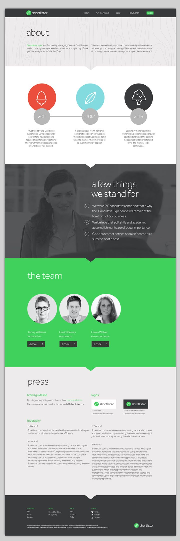 Shortlister- brand and website by Ten Fathoms