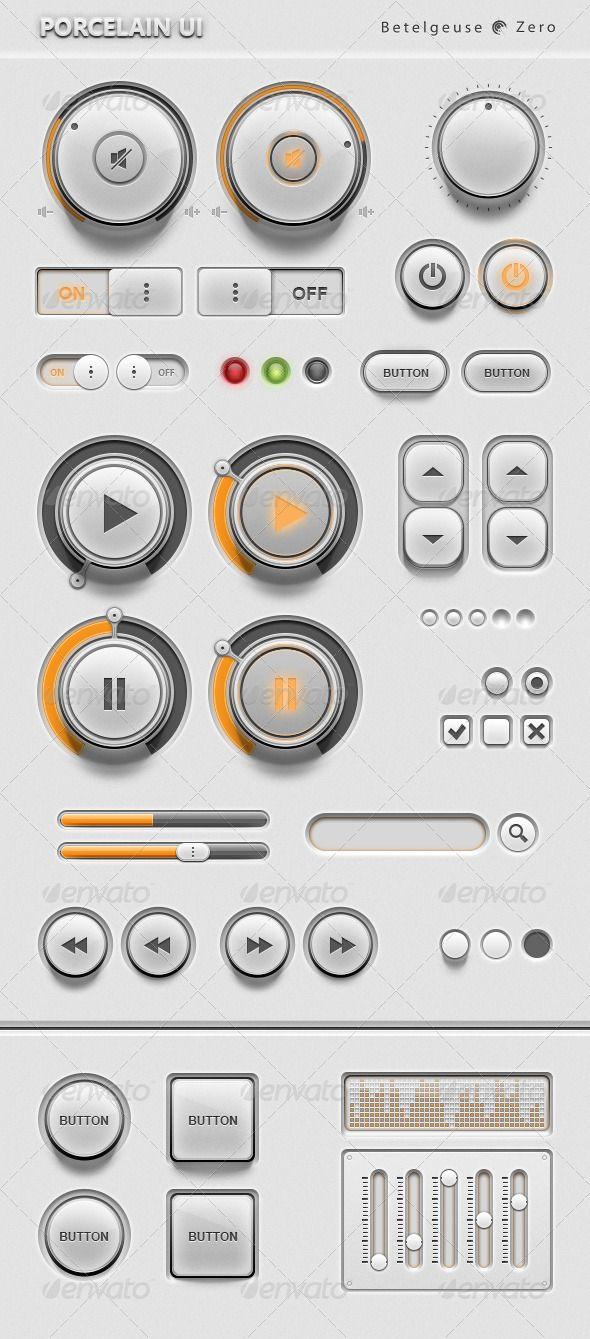 Porcelain UI Kit - GraphicRiver Item for Sale