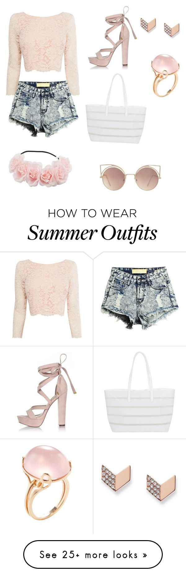 """Cute Summer Outfit"" by kaylafayesmith on Polyvore featuring Coast, River Island, BUCO, MANGO, FOSSIL and Goshwara"