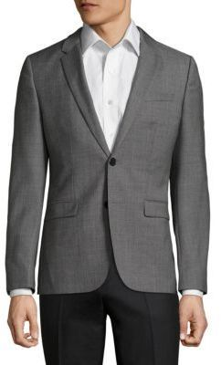 HUGO BOSS Astian-Hets Slim-Fit Wool Jacket by HUGO BOSS  HUGO BOSS Astian-Hets Slim-Fit Wool Jacket by HUGO BOSS  Available Colors: Grey  Available Sizes: 42 R 38 R 40 R 44 R 36 R  DetailsSubtle texturing elevates this urbane wool jacket. Notch lapels. Front two-button closure. Long sleeves with button cuffs. Waist flap pockets. Lined. Virgin wool. Dry clean. Imported.