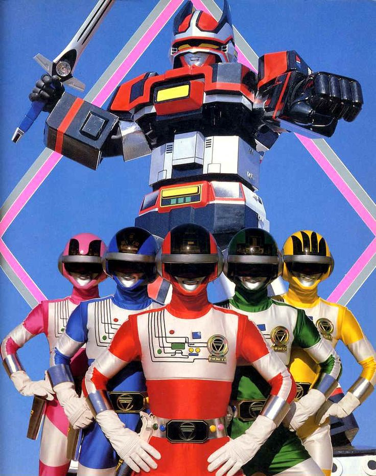 Bioman 1984 Super Sentai ,Power Rangers ,France Five