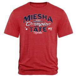 Men's Miesha Tate Red UFC 196 Champion Tri-Blend T-Shirt