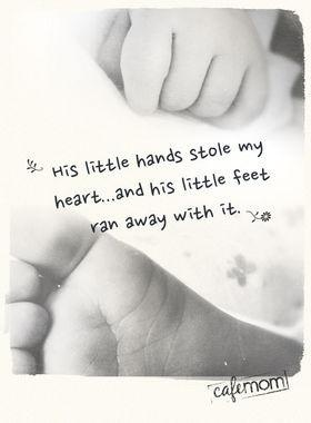 Cute baby book quote....