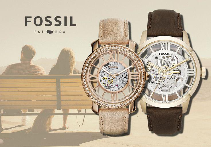 zegarki Fossil komplet dla pary http://www.zegarek.net/zegarki/fossil/wszystkie.html