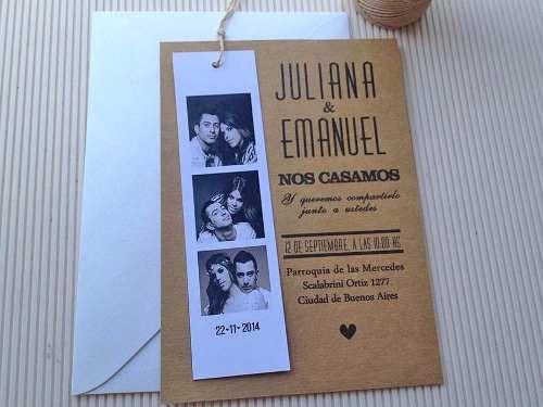 invitaciones tarjetas casamiento - 15 años (10 unidades)