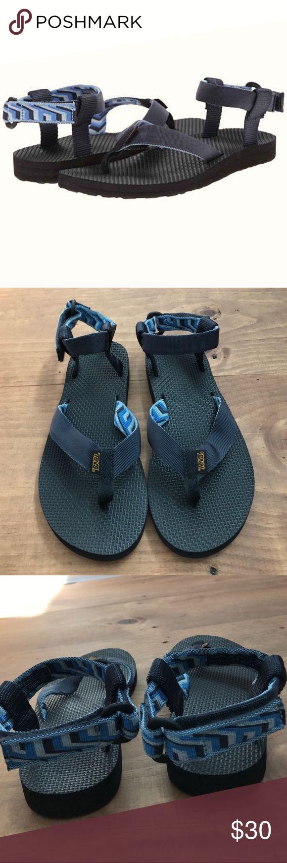 Teva Sandals Blue Flip Flops Size 7 For Sale in my Poshmark Closet: #shopmycloset #poshmark #fashion #shopping #style #forsale #Teva #Shoes