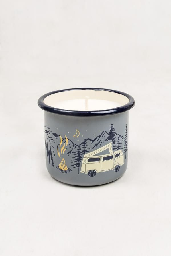 Road Trip Enamel Mug Candle Mugs Candles Hand Candle