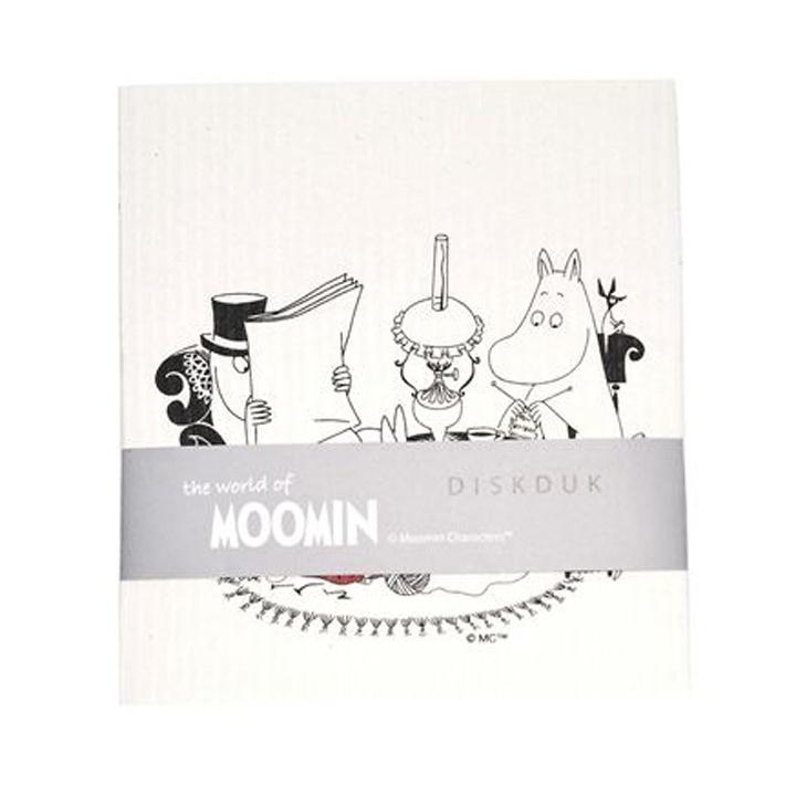 Moomin Dish Cloth Reading Time