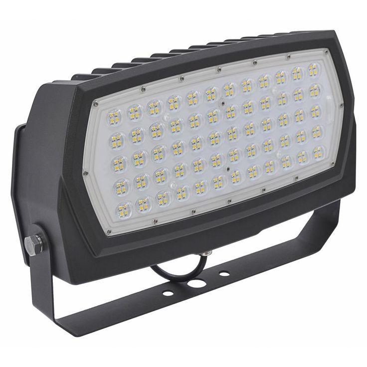 Halco Lighting Technologies 600-Watt Equivalent 200-Watt Bronze Outdoor Integrated LED Large Landscape Flood Light 120-277V Yoke Cool White 99684