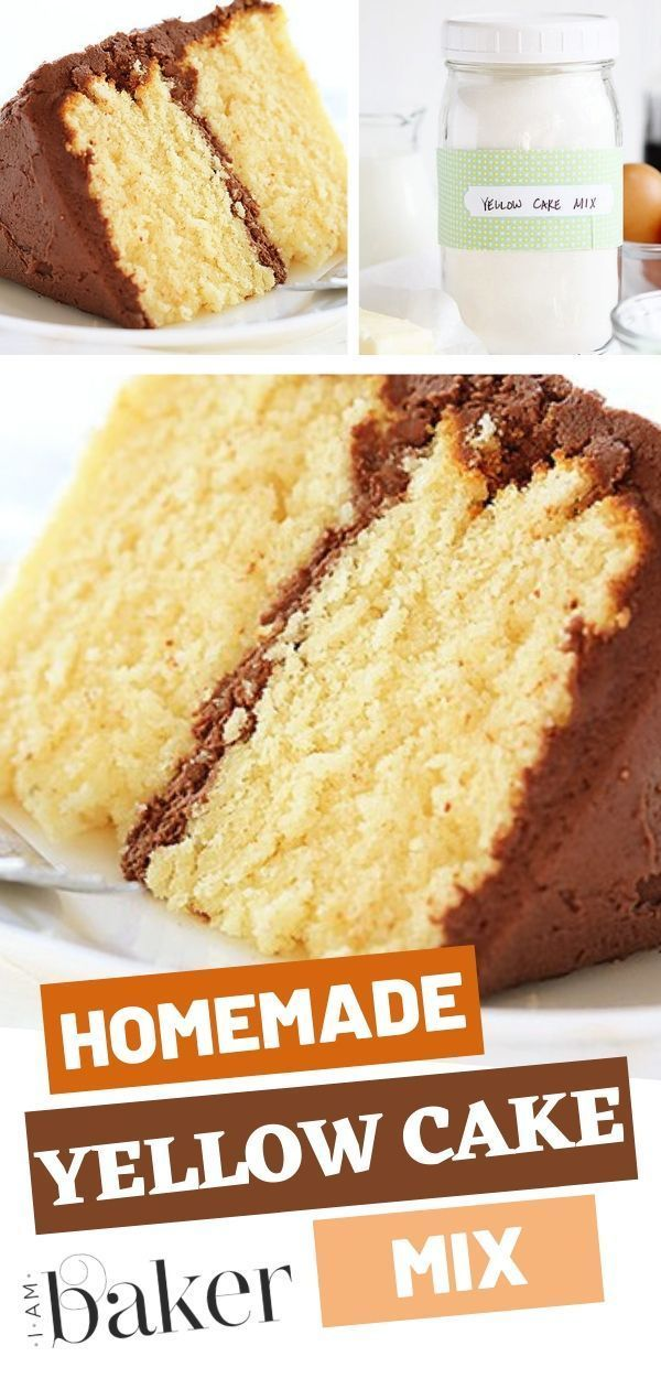 The Easiest Possible Way To Make A Homemade Yellow Cake Mix Learn How To Make A Homemade Cake Recipes Easy Homemade Homemade Cake Mixes Homemade Cake Recipes