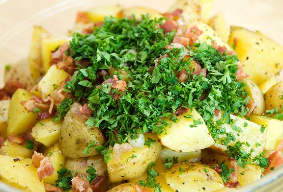 german roasted potato salad recipe | use real butter