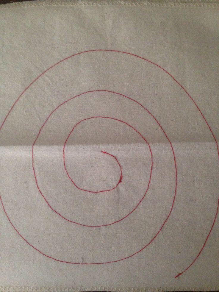 Practica de costura en espiral