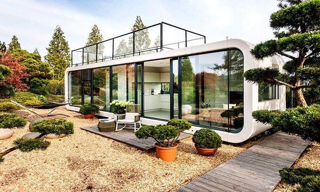17 meilleures id es propos de maison pr fabriqu e sur pinterest conception de toit moderne. Black Bedroom Furniture Sets. Home Design Ideas