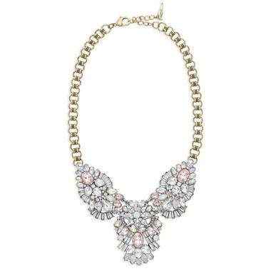 Celestial Frost Statement Necklace
