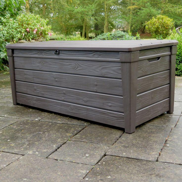 Brightwood Wood Effect Plastic Garden Storage Box | Departments | DIY at B&Q