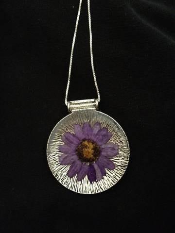 my purple resin pendant $16