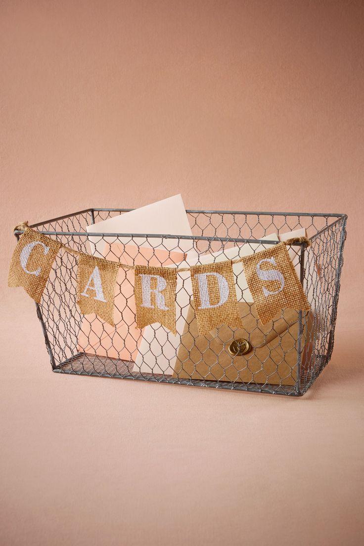 Artful Card Basket From BHLDN