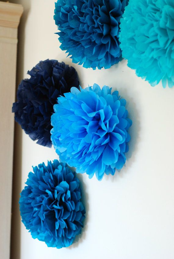 20 Mini Tissue Paper Pom Poms / Wall Decor / Nursery Decor / Wall Art I Am  Going To Adhere These To Clothespins And Display Student Work. The Blank  Wall In ...