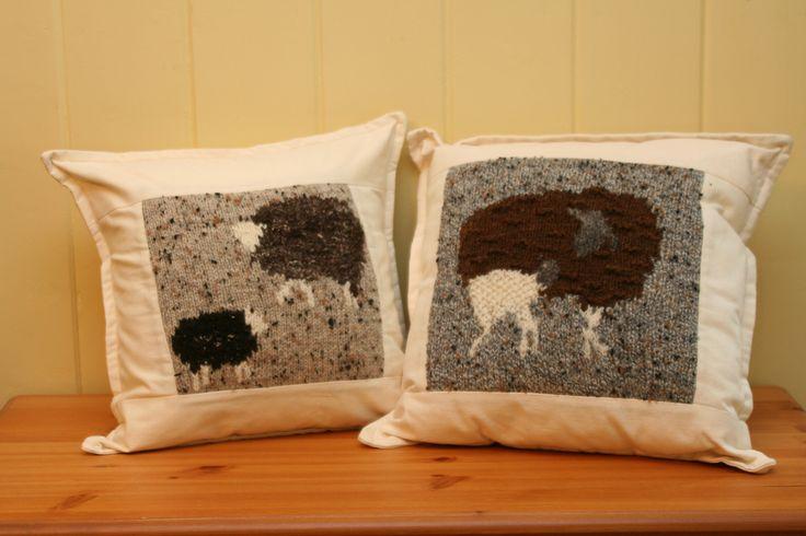 almohadones con jackard