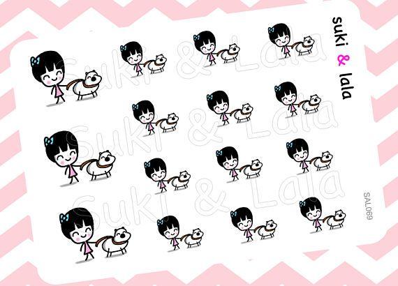 Lopen de hond Planner Stickers huisdier zitten Planner